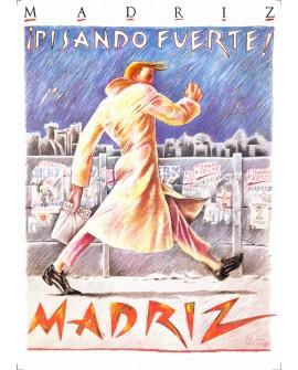 Pisando Fuerte Javier de Juanes MadriZ Cuadro en tablero Pop Art Español