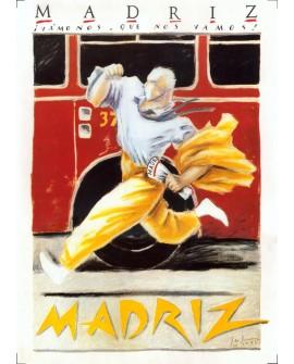 Vamos que nos vamos Javier de Juanes MadriZ Cuadro Pop Art Español Home