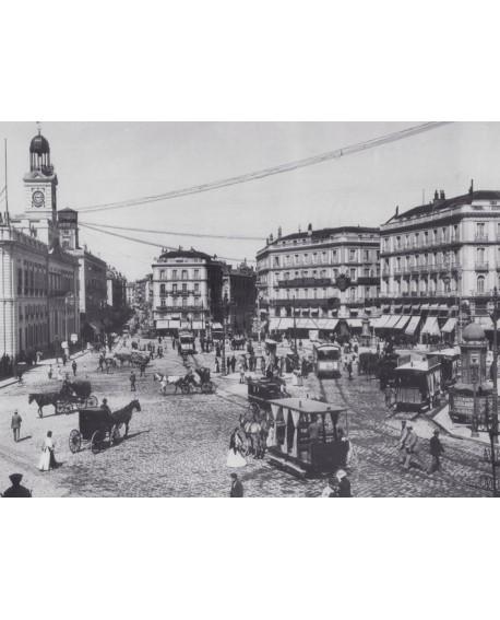 Puerta del Sol Año 1900 Fotografia Historica de Madrid Clasico Home