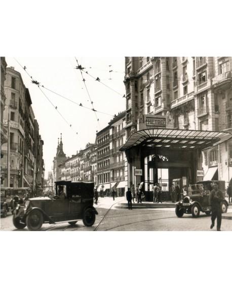 Cuadro Fotografico Madrid 1920 de Metro Red de San Luis Gran Via Home