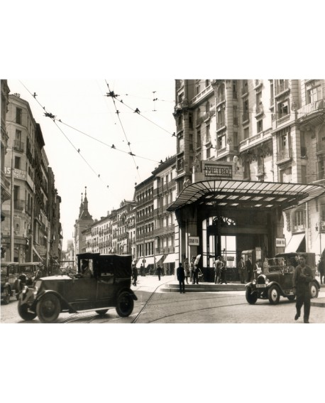 Cuadro Fotografico Madrid 1920 De Metro Red De San Luis Gran Via
