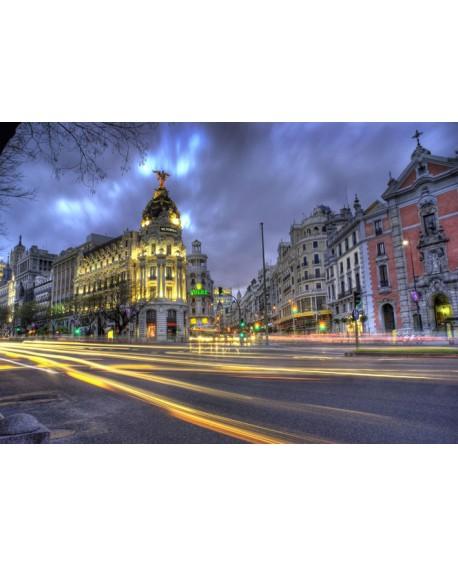 Cuadro Fotografico color de Madrid Luces Nocturnas Metropolis Home