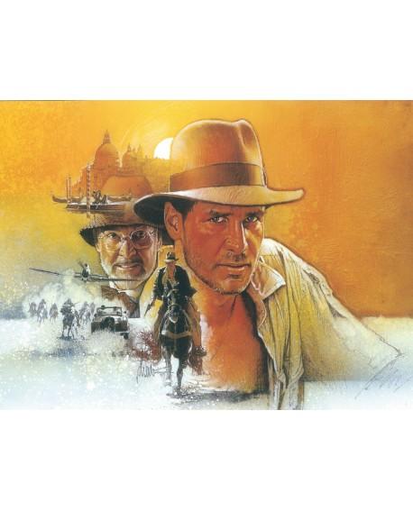 Indiana Jones Cuadro Retrato Mural Generico del Arca Perdida Reproduccion Home