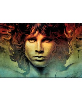 Jim Morrison retrato Pop Art tipo comic espiritual Rock & Roll USA