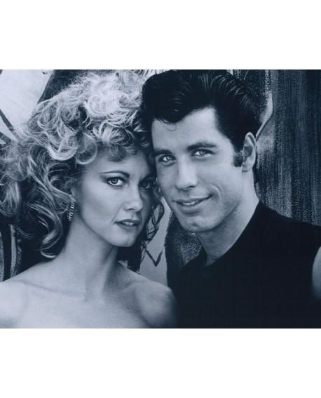 Grease cuadro Fotograma de Olivia Newton John y John Travolta Home