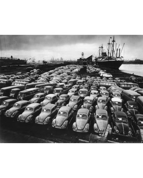 Volkswagen en puerto de Hamburgo Fotografia Historica Home
