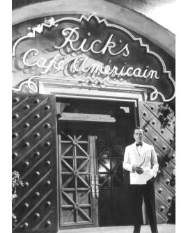 Bogart en Casablanca Cafe Ricks Cuadro Mural Fotograma