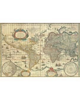 Torbis Terrae Mapa Mundi Mural cuadro clasico en Cartel Tablero Home