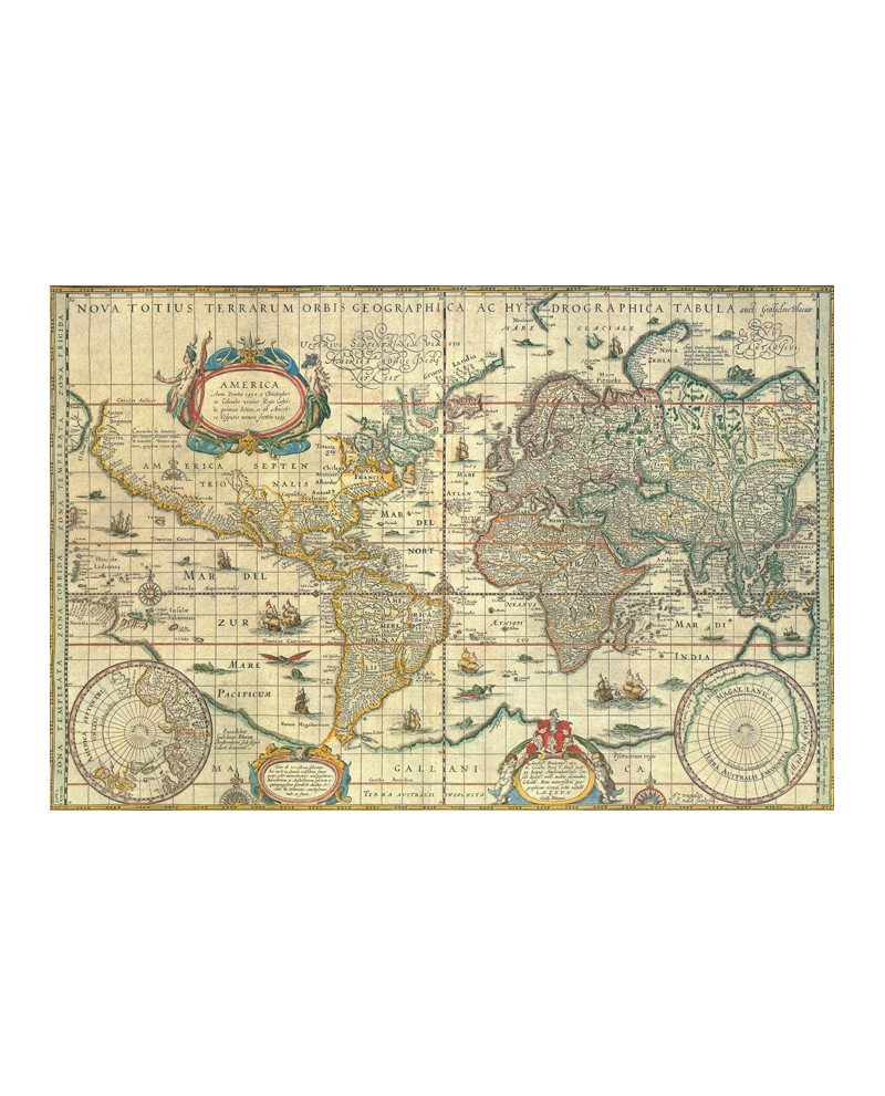 Torbis Terrae Mapa Mundi Mural cuadro clasico en Cartel Tablero Tor...