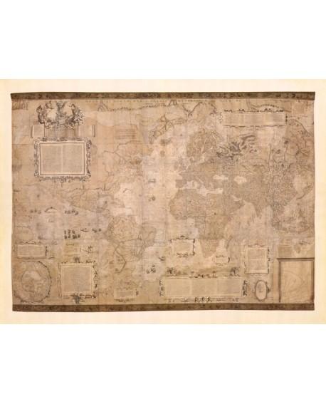 Torbis Terrae Mapa mundi Mural cuadro de Conquista de america Home