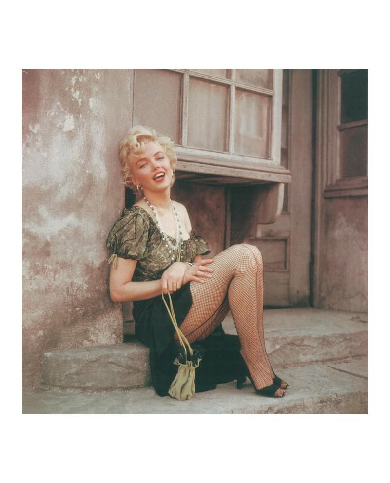 Marilyn monroe en bus Stop con medias de rejilla Cuadro Cuadrado mu...