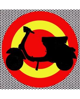 Tony Polonio Vespa con Escarapela de España Pop Art mural giclee Home