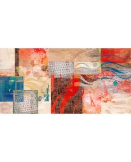 Summertime Cuadro Mural Gigante Abstracto Arte Italiano Cuadros Horizontales