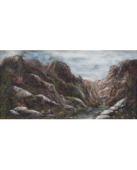 Villalobos Las Piedras Sierra de Madrid en Horizontal Pintura Española Cuadros Horizontales