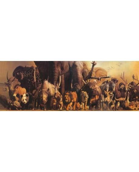 Takino - El Arca de Noe - Pintura Hiperrealista Etnica con Animales Cuadros Horizontales