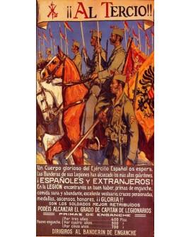 Al Tercio La Legion Cartel de Reclutamiento Guerra Civil Española Home