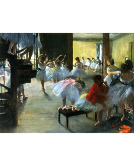 Edgar Degas La clase de danza Ballet Cuadro Impresionista horizontal