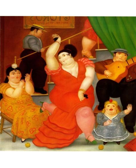 Botero Flamenca Gitana Bailando cuadro Naif Arte Latino de Colombia Home