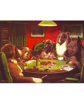 Los perros jugando al poker 2 cuadro decorativo artr naif pop art Home