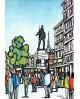 Alcala: Cascorro en El rastro de Madrid. Cuadro Comic Moderno Home