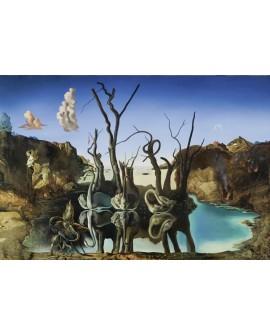 Salvador Dali Cisnes reflejando elefantes Arte Surrealista Home