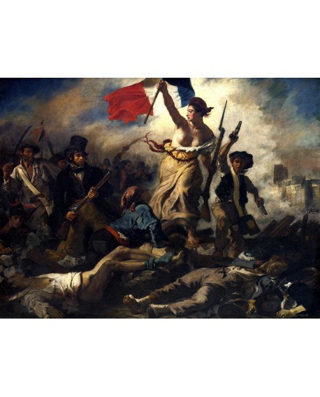 Delacroix La Libertad Guiando al pueblo Cuadro clasico frances Pintura Giclee Home