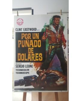 CARTEL ORIGINAL, CLINT EASTWOOD, POR UN PUÑADO DE DOLARES, LAMINA 100x70 Año 1973 Home