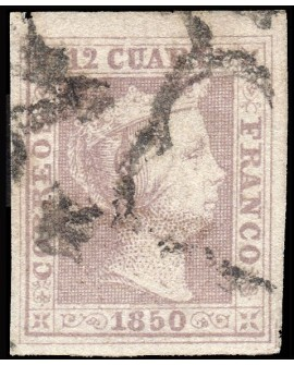 España 1850 Isabel II 12 cuartos Edifil Nº2 Certificado COMISION CMF Home