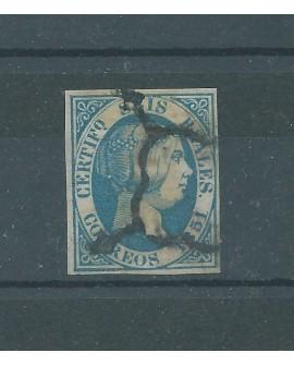 España 1851 Isabel II 6 reales Marquilla Roig Edifil nº10 Certificado CMF Home