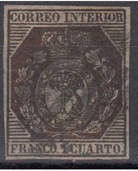 España 1853  Escudo de Madrid 1 cu bronce Edifil Nº 22 Dictamen CMF