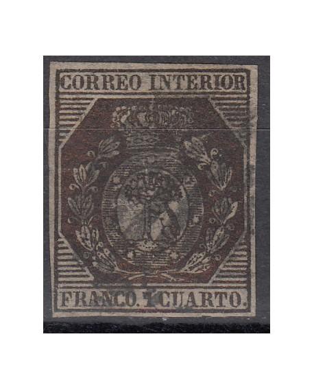 España 1853 Escudo de Madrid 1 cu bronce Edifil Nº 22 Dictamen CMF Home