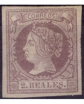 España 1860 1861 Etapa de Isabel II Edifil 56 NUEVO con Certificado CMF