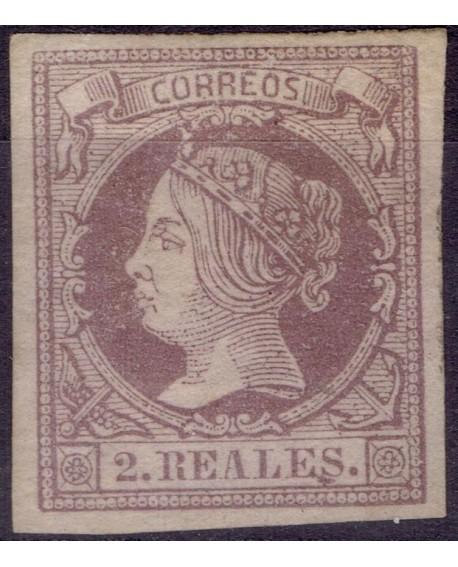 España 1860 1861 Etapa de Isabel II Edifil 56 NUEVO con Certificado CMF Home