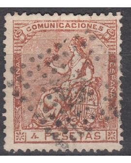 España 1873 Alegoría de España 4 pts Edifil 139 Certificado