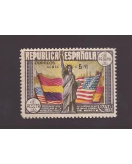 España 1938 Aniversario de la Constitución de los EE.UU Edifil Nº 765