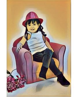 Cuadro Infantil Personalizado Retratos de niños a partir de fotografia Home