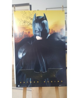 CARTEL, BATMAN BEGINS, LAMINA AFICHE ORIGINAL CINE SUPER HEROES WARNER Home
