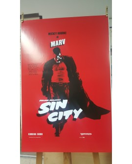 CARTEL, SIN CITY, MICKEY ROURKE LAMINA AFICHE ORIGINAL DE CINE COMIC VINTAGE Home