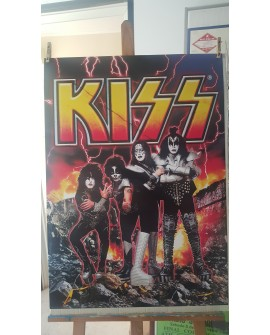 CARTEL, KISS, LAMINA AFICHE ORIGINAL ROCK AND ROLL AMERICANO Home