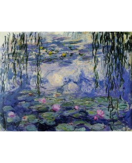 Claude Monet Los Nenufares en el lago Cuadro clasico Impresionista Home