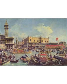 Canaletto Carnavales en los canales de Venezia Cuadro clasico Home