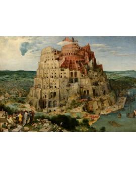 Brueguel La Torre de Babel Pintura clasica flamenca reproduccion