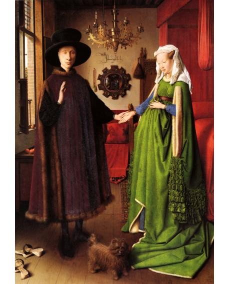 Jan Van Eyck Retrato de la Familia Arnolfini y su esposa reproduccion Home