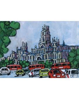 Alcala : Palacio Ayuntamiento de Madrid. Cuadro Comic. Pintura Moderna
