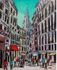 Alcala Toledo Calle Mayor Pintura Naif Española pintura giclee Home