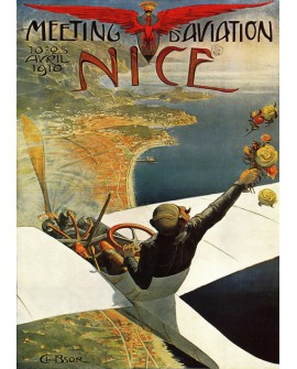 Cartel Agencia de Viajes Nice Modernista Meeting Aviation Vintage Home