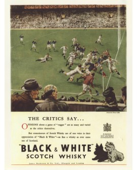 Black & white Cartel Gigante de bar Rugby blanco y negro UK Home