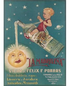 Cartel Deco Art Nouveau Modernista Bebidas Licores Reproduccion Home