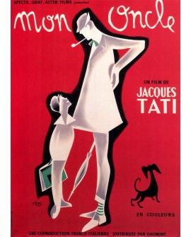 Tati Mi Tio Mon Oncle cartel de cine Frances clasico Vintage Reproduccion Home
