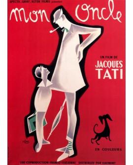 Tati Mi Tio Mon Oncle cartel de cine Frances clasico Vintage Reproduccion Home